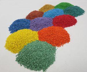 colored rubber granules